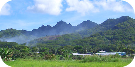 >>> View from the main road by the int. airport / photo © cookislands.com
