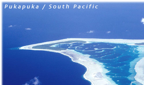 The island of Pukapuka / Cook Islands / South Pacific