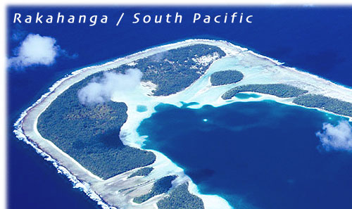 The island of Rakahanga / Cook Islands / South Pacific