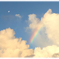 >>> Rainbow, clouds, moon © Archi