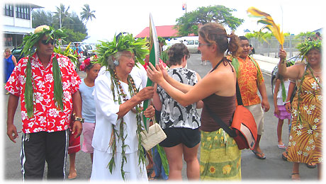 Queen´s baton 2006 in Avarua / Rarotonga / Cook Islands