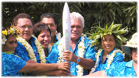 Hon. Prime Minister of the Cook Islands Jim Marurai with his staff - January 2006